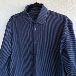 16/35 John Varvatos Slim Fit Dotted Stripe Shirt